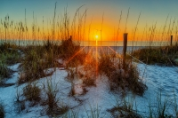 A sunset in to the Gulf of Mexico from Blind Pass Beach on Captiva Island.